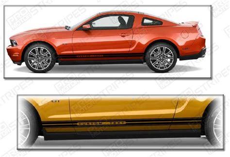 mustang rocker panel stripes ford mustang side rocker panel stripes 2009 2010 2011 2012