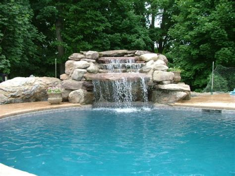 pool waterfalls swimming pool waterfall designs home decorating ideas