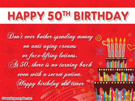 50th Birthday Card Sayings Birthday Snydle Com