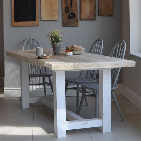 reclaimed timber farmhouse dining table by home barn