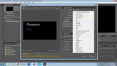 adobe premiere export video format how to export audio in adobe premiere pro youtube