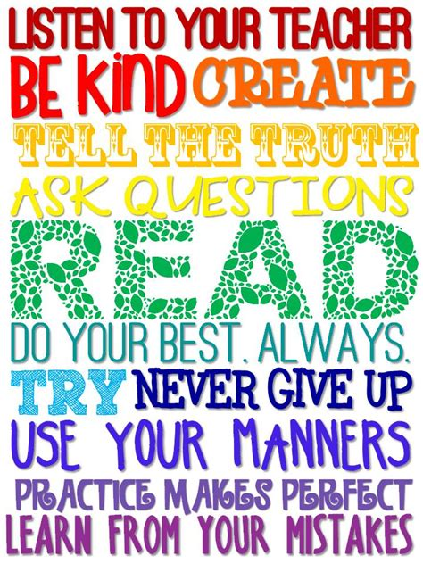 printable classroom poster inspirational quotes for elementary classroom quotesgram