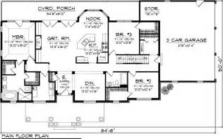 Single Level Ranch House Plans House Plan 73152 At Familyhomeplans Com