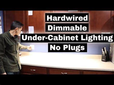 kitchen  cabinet lighting  plugs hardwired