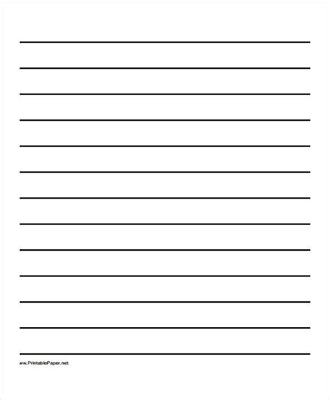 lined paper pdf wide ruled templates corner