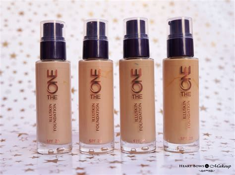 oriflame   illuskin foundation review swatches