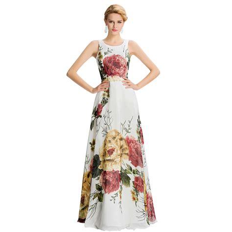 evening dress floral print sleeveless pattern