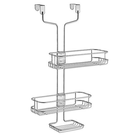 bed bath beyond shower caddy interdesign 174 linea adjustable over the door shower caddy