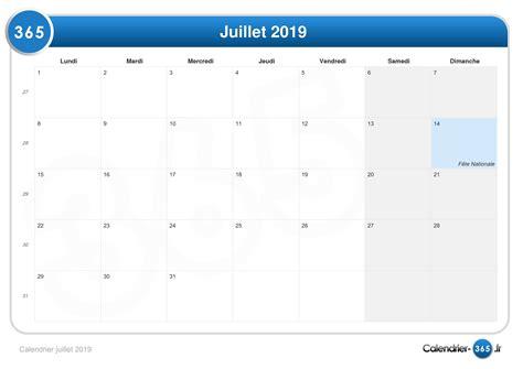 Calendrier 2019 Juillet Calendrier Juillet 2019