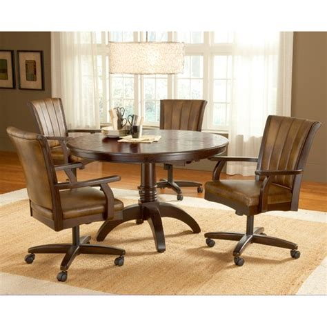 dining room chairs with arms and casters home design