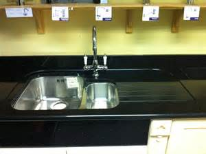 B Q Kitchen Design star galaxy worktop with recess drainer and undermounted