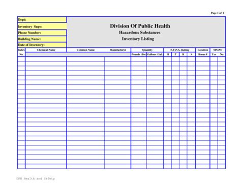 Chemical Hazard Communication Program Template Templates Resume Exles Wla0gdqyvk Osha Chemical Inventory Template