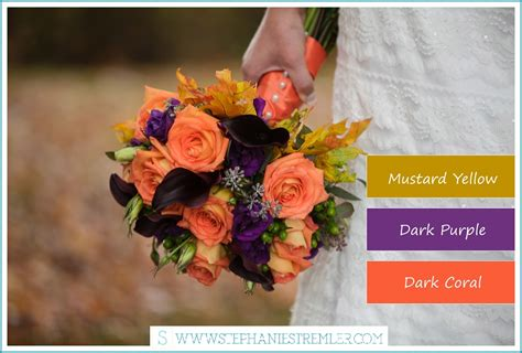 fall color schemes fall wedding color palette ideas images