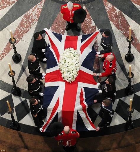 flag draped coffin margaret thatcher funeral britain bids farewell and