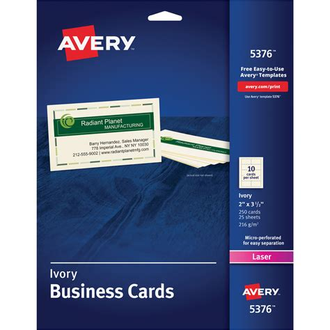 will open office work with avery business cards templates avery 5376 avery business card ave5376 ave 5376