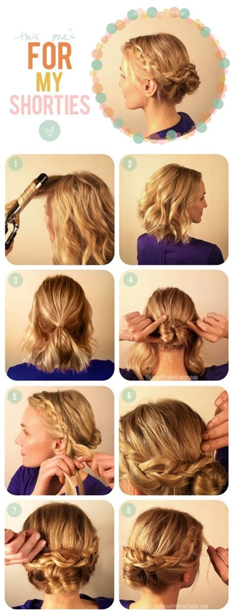 shoulder length updo tuturial shoulder length hair updo tutorial