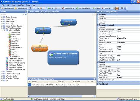 workflow studios vmware infrastructure task library in workflow studio