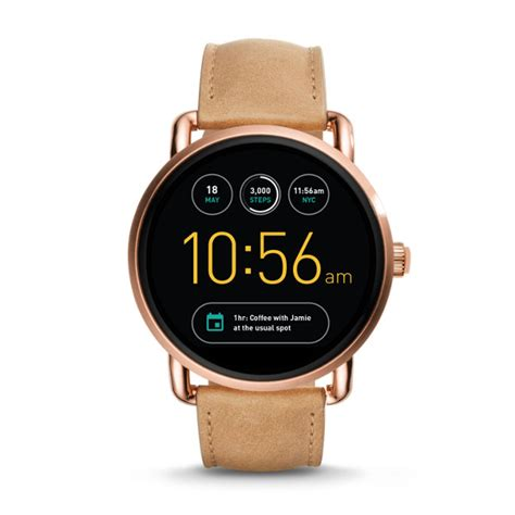 fossil idealist light brown leather watch gen 2 smartwatch q wander light brown leather fossil