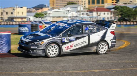 subaru wrc 2017 rally driver chris atkinson joins subaru global rallycross