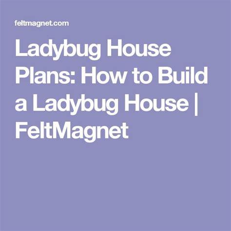 Ladybug House Plans Best 25 Ladybug House Ideas On Bug Hotel Bug Houses For And Ladybugs In House