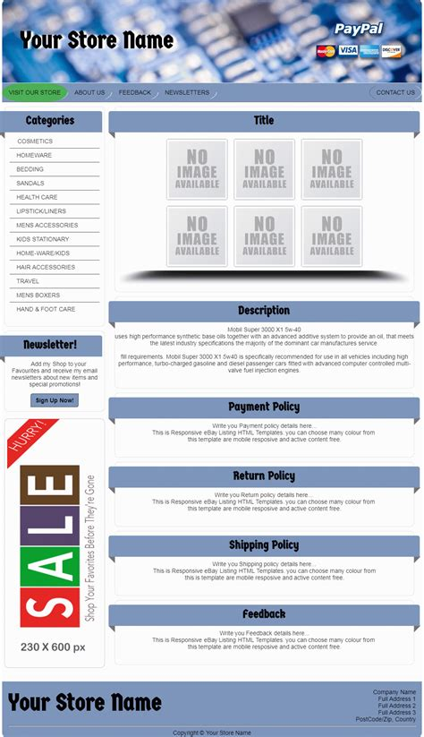 100 ebay ad templates custom ebay gifts and things