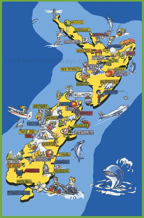 map of tourist attractions in maps update 11751783 new zealand tourist attractions map
