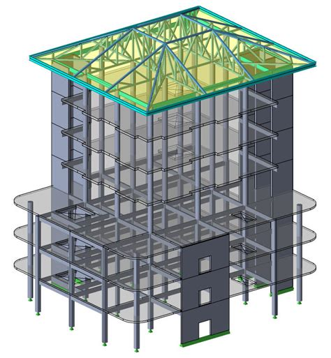 structural layout of a building structural engineers tekla