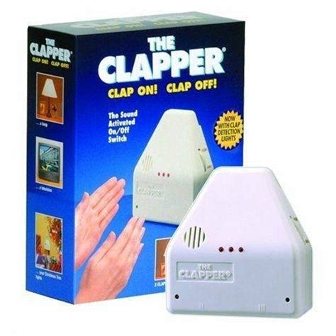 The Clapper Light Switch by The Clapper Sound Activated Switch No Reserve As Seen On