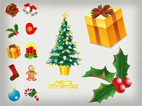 images of christmas objects christmas objects pack christmas vector graphics art