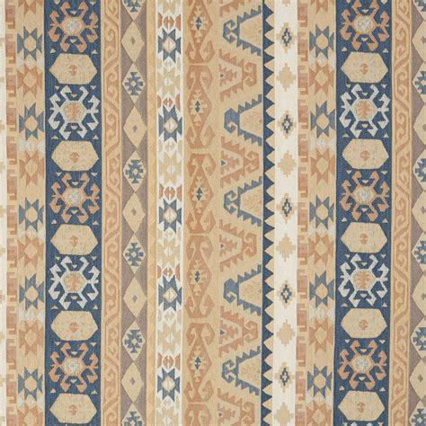 Upholstery Fabric Southwest by J758 Southwest Large Stripe Upholstery Fabric Blue Salmon
