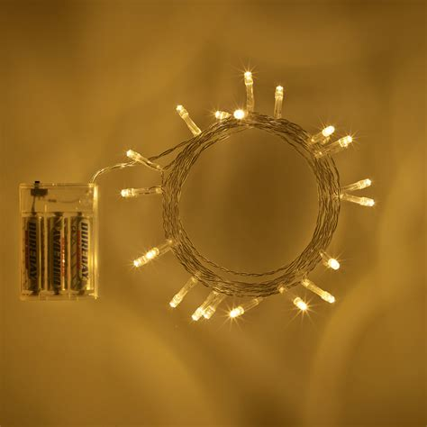 what is white light 20 led warm white battery operated fairy lights