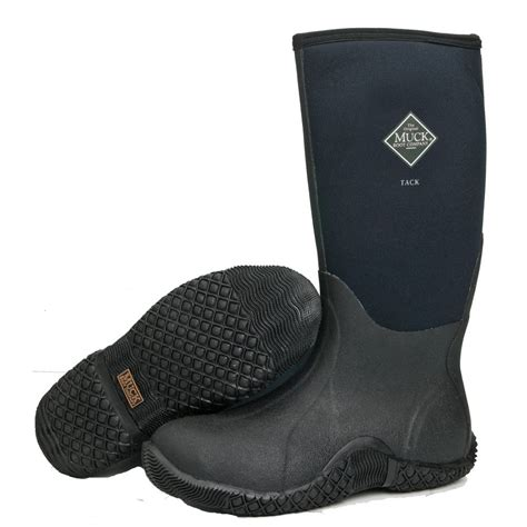 the muck boot company tack black equestrian farm boot