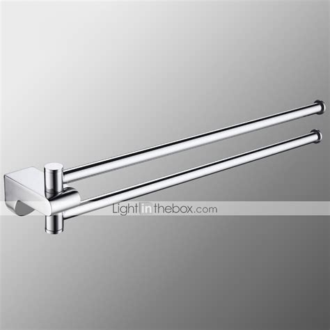 swing out towel bar bathroom swing arm towel bars 2 arm wall mount swing out