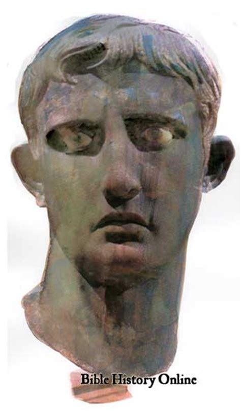 census of augustus caesar bible archaeology and roman bronze bust of augustus biblical archaeology in rome