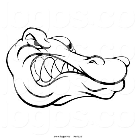 logo black and white crocodile royalty free vector logo of a intimidating alligator