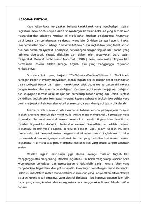 format laporan disiplin murid laporan kritikal