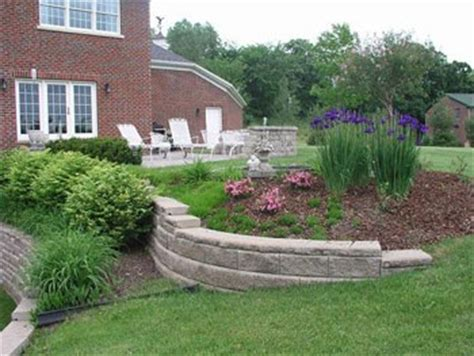 how to build retaining wall on sloped backyard 31 best images about sloped yard ideas on pinterest