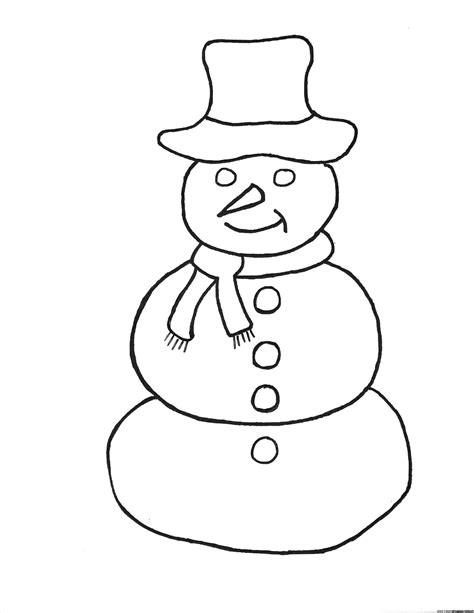 easy christmas coloring pages for toddlers pinterest simple snowman frosty the page simple easy