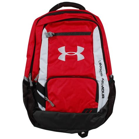 under armoir backpack under armour hustle backpack red