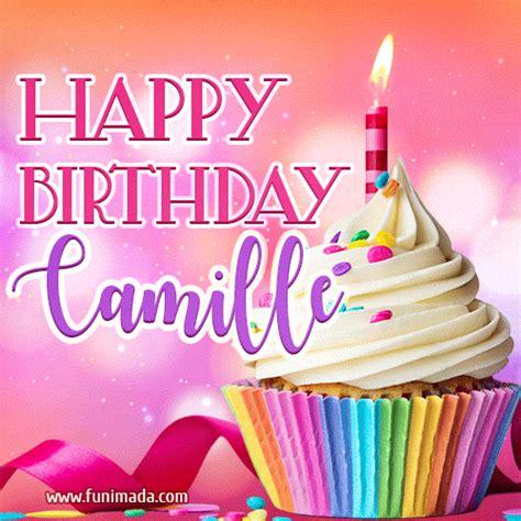 happy birthday camille lovely animated gif   funimadacom
