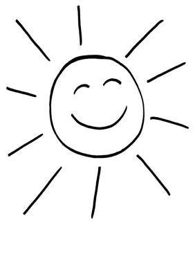 Coloriage à imprimer : Soleil très content