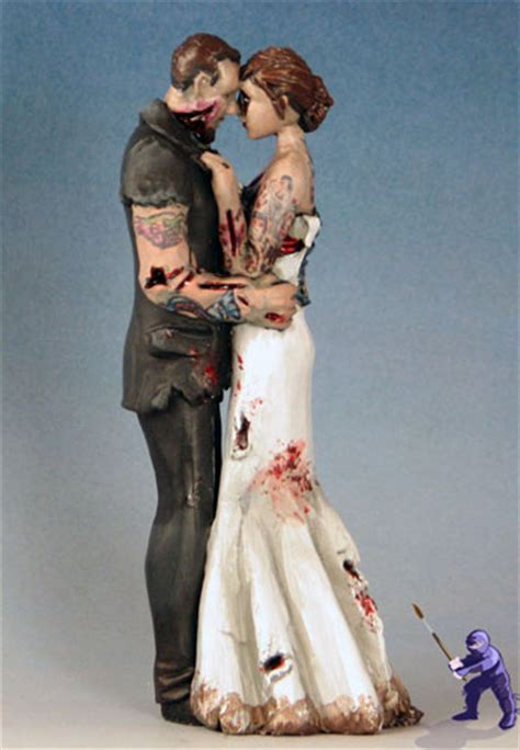 tattooed couple cake toppers romantic zombies cake topper garden ninja studios