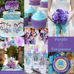blue and purple wedding colors turquoise wedding color seven combinations