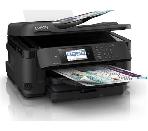 Printer Epson A3 Second epson workforce wf 7715dwf all in one wireless a3 inkjet printer with fax deals pc world