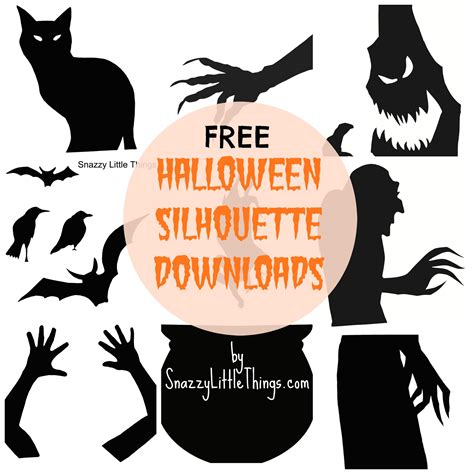 printable halloween decorations scary halloween window silhouettes free download