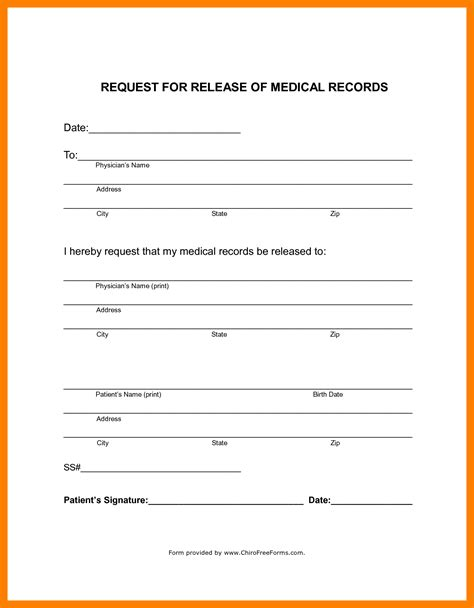 Resume Samples Pdf 2017 by 9 Generic Medical Records Release Form Artist Resumes