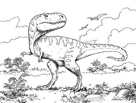 Free Coloring Book Pages Dinosaurs | free printable dinosaur coloring pages for kids