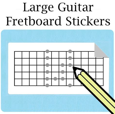 printable guitar stickers guitar electric guitar large fretboard stickers free