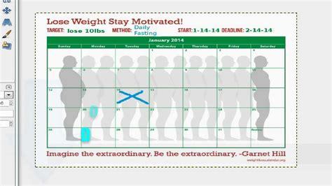 Calendar Goals Weight Loss Goal Calendar Day 1 Reach Your Weight Loss