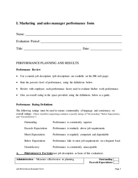 performance test manager resume sle employee evaluation report sle 28 images self